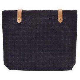 Hermès-Hermès Canvas Shoulder Bag-Black