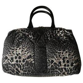 Yves Saint Laurent-Easy leopard-Black,Grey