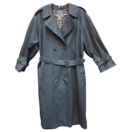 Burberry-vintage Burberry women's trench coat 44-Navy blue