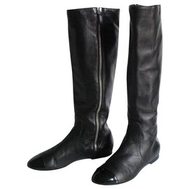 Chanel-Riding boots Chanel size 37.5-Black