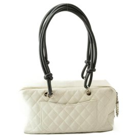 Chanel-Chanel Cambon Shoulder Bag-White
