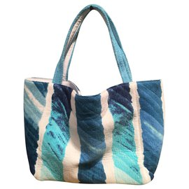 Chanel-Totes-White,Blue