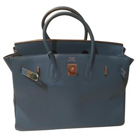 Hermès-Birkin-Light blue