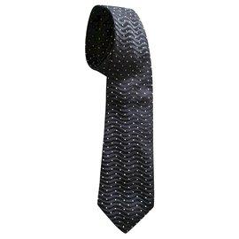 Loft Designed By-cravate noire et blanche-Noir