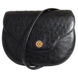 Hermès-Hermès purse purse purse Black Ghw Ostrich purse-Black