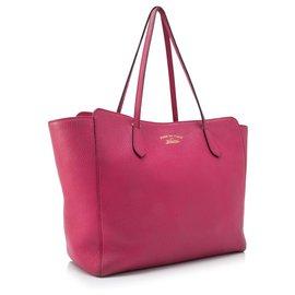 Gucci-cabas Swing en cuir rose Gucci-Rose