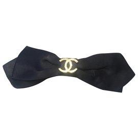 Chanel-Accessoires pour cheveux-Noir,Doré