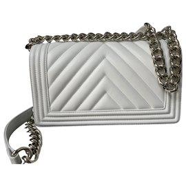 Chanel-CHANEL BOY MEDIUM WHI-Blanc