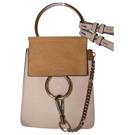 Chloé-mini bag Faye Light pink bracelet-Pink,Flesh