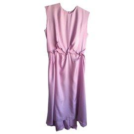 Yves Saint Laurent-Silk dress-Pink