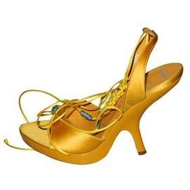 Dior-Sandales-Jaune