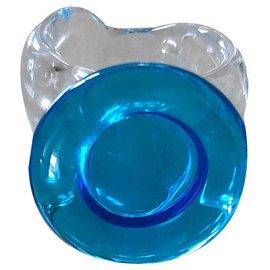 Autre Marque-bague en verre soufflé bleue taille 51-52-Bleu
