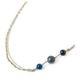 Chanel-2 CHAIN ROWS-Silvery,Blue