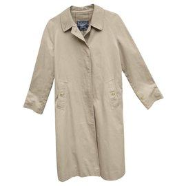 Burberry-raincoat woman Burberry vintage size 38-Light brown