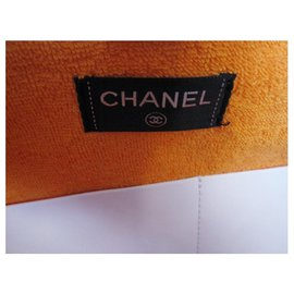 Chanel-Chanel beach tote-White,Orange,Dark red