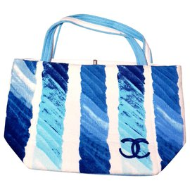 Chanel-New Chanel tote bag-White,Blue,Turquoise