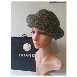 Chanel-Chapeaux-Multicolore,Vert