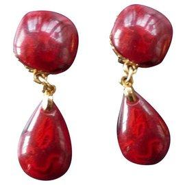 Yves Saint Laurent-Earrings-Red
