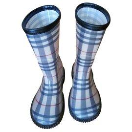 Burberry-Burberry rain boots-Beige