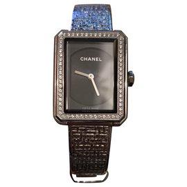 Chanel-BOYFRIEND TWEED DIAMONDS-Silvery