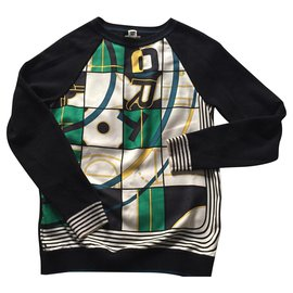 Hermès-silk crew neck sweater and wool and cashmere knit,Hermes.-Other