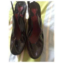 Chloé-chaussures chloe-Marron foncé