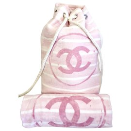 Chanel-Lot backpack and new towel-Pink,White