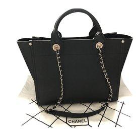 Chanel-Grand cabas shopping-Noir