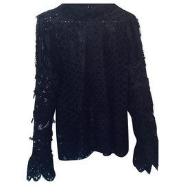 Anna Sui-Tops-Black