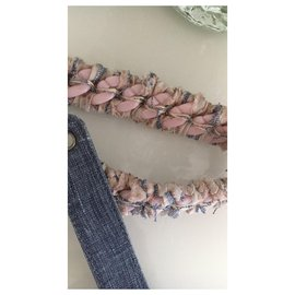 Chanel-Belt Chanel Jeans tréssée # tissues Size:85-Blue