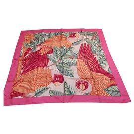 Hermès-Silk scarves-Pink