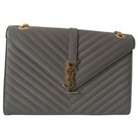 Yves Saint Laurent-Handbags-Grey