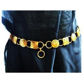 Yves Saint Laurent-Belts-Golden