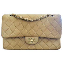 Chanel-Timeless medium lined flap-Beige