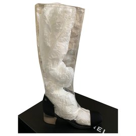 Chanel-TRANSPARENT BOOTS CHANEL-Other