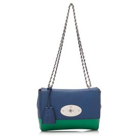 Mulberry-Mulberry Blue Lambskin Leather Lily-Blue,Green
