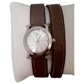 Hermès-Heure H ronde-Blanc