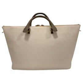 Chloé-Baylee tote bag-Cream