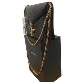 Yves Saint Laurent-Handbags-Black,Golden
