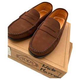 Tod's-Moccasins Tod's child-Dark brown