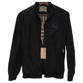 Burberry-Blazers Jackets-Navy blue