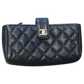 Chanel-Bourses, portefeuilles, cas-Noir,Argenté,Bordeaux