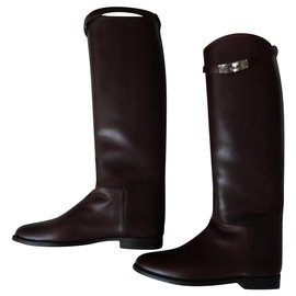 Hermès-boots-Marron