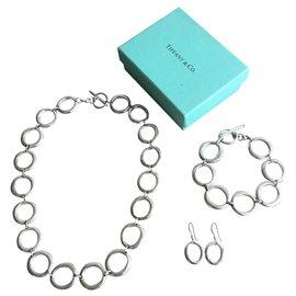 Tiffany & Co-Superbe parure Tiffany & co argent massif 925 parfait état-Argenté