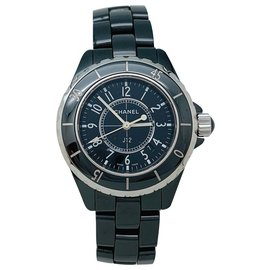 """Chanel-Chanel watch model """"J12""""black ceramic and steel.-Other"""