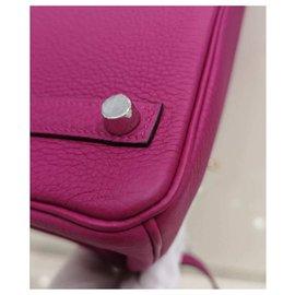 Hermès-HERMES BIRKIN 25 Rose Pourpre PHW-Pink