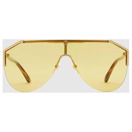 Gucci-Masque lunettes de soleil gucci nouveau 2019/20-Jaune