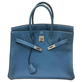 Hermès-Birkin 35 blu jeans-Blue