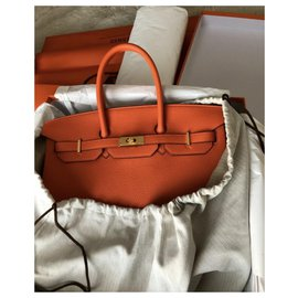 Hermès-Birkin 35 feu orange-Orange