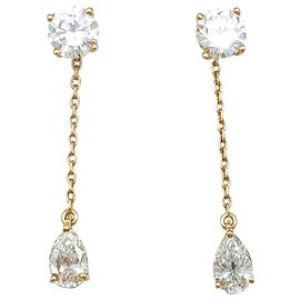 inconnue-Fleas and diamond earrings.-Other